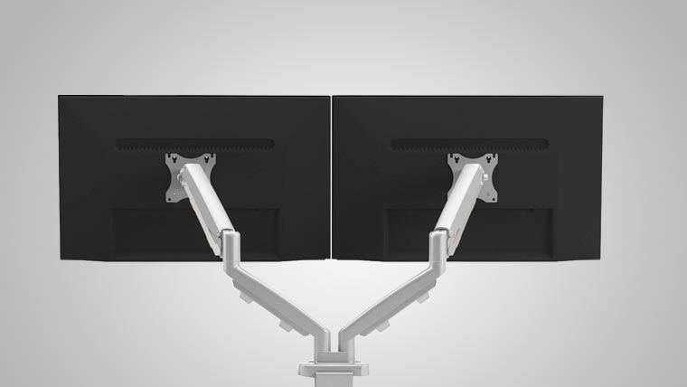 Ergo Dual Monitor Arm MultiTable Specs 2