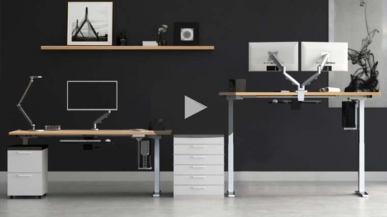 Mod E 2 Height Adjustable Standing Desk Video