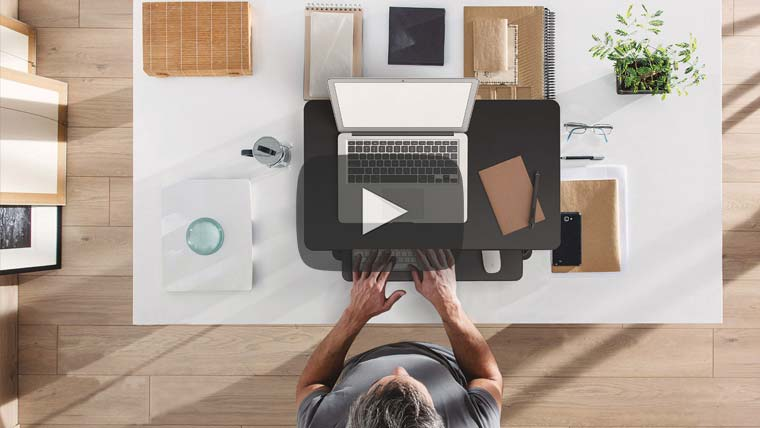 The MultiTable Desktop Sit To Stand Workstation Video