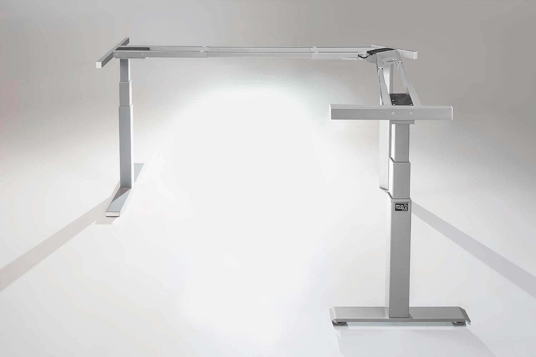 Mod E Pro L Shaped Standing Desk Frame Silver R Height Adjustable Standing  Desk Base MultiTable