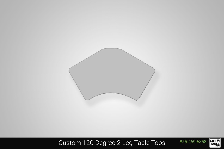 Custom 120 Degree 2 Leg Standing Desk Table Top Shape Options MultiTable Office Furniture Manufacturing Phoenix Arizona Since 2010