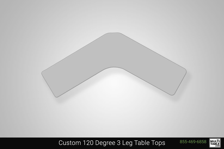 Custom 120 Degree 3 Leg Standing Desk Table Top Shape Options MultiTable Office Furniture Manufacturing Phoenix Arizona Since 2010