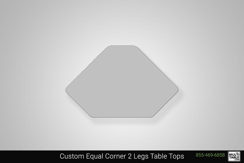 Custom Equal Corner 2 Legs Standing Desk Table Top Shape Options MultiTable Office Furniture Manufacturing Phoenix Arizona Since 2010