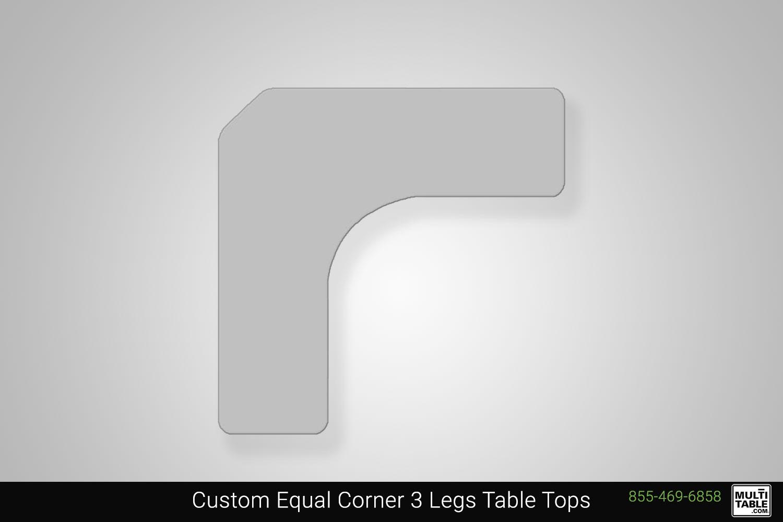 Custom Equal Corner 3 Legs Standing Desk Table Top Shape Options MultiTable Office Furniture Manufacturing Phoenix Arizona Since 2010