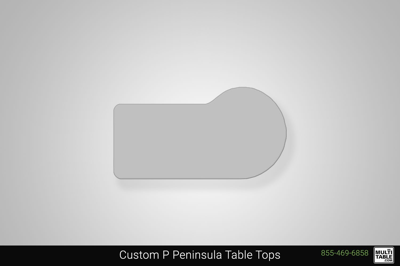 Custom P Peninsula Standing Desk Table Top Shape Options MultiTable Office Furniture Manufacturing Phoenix Arizona Since 2010