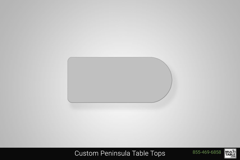 Custom Peninsula Standing Desk Table Top Shape Options MultiTable Office Furniture Manufacturing Phoenix Arizona Since 2010