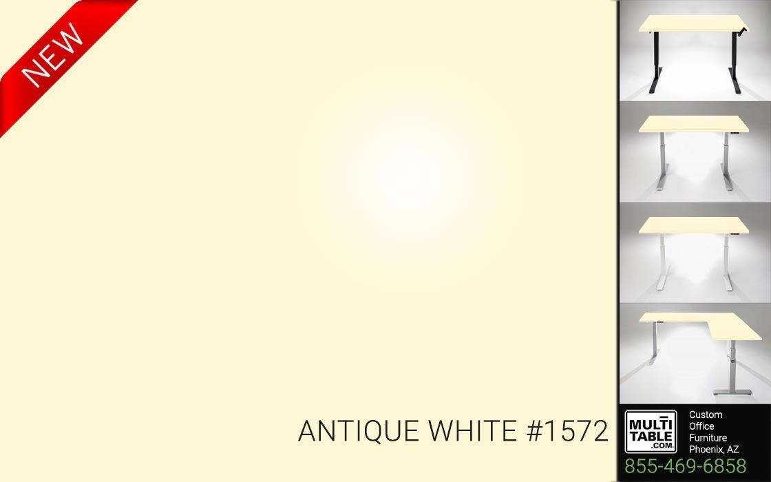 Custom Standing Desk Table Top Options MultiTable Office Furniture Manufacturer Supplier Phoenix Arizona Wilsonart Antique White 1572 1