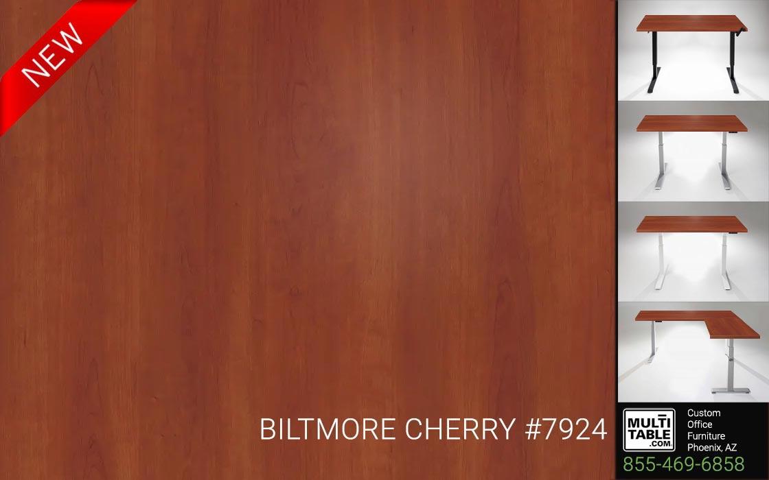 Custom Standing Desk Table Top Options MultiTable Office Furniture Manufacturer Supplier Phoenix Arizona Wilsonart Biltmore Cherry 7924 1