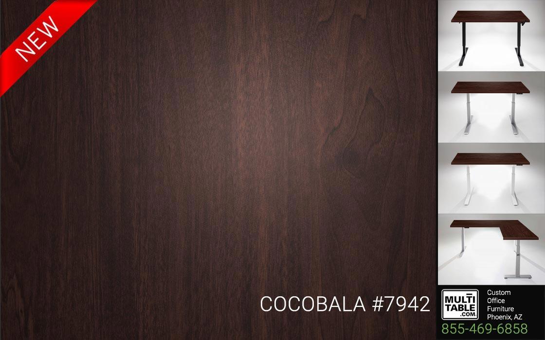 Custom Standing Desk Table Top Options MultiTable Office Furniture Manufacturer Supplier Phoenix Arizona Wilsonart Cocobala 7942 1