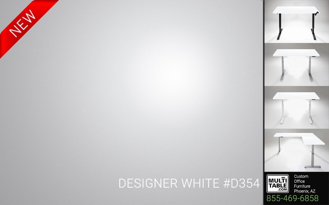 Custom Standing Desk Table Top Options MultiTable Office Furniture Manufacturer Supplier Phoenix Arizona Wilsonart Designer White D354 1
