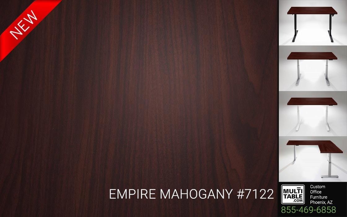 Custom Standing Desk Table Top Options MultiTable Office Furniture Manufacturer Supplier Phoenix Arizona Wilsonart Empire Mahogany 7122 1