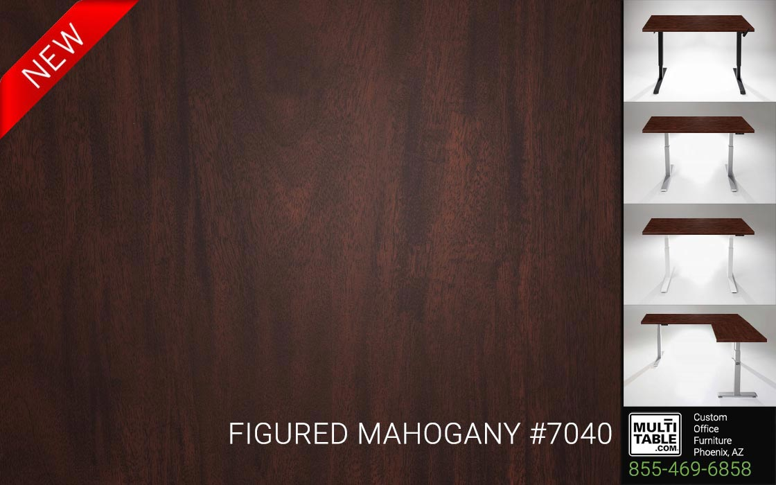 Custom Standing Desk Table Top Options MultiTable Office Furniture Manufacturer Supplier Phoenix Arizona Wilsonart Figured Mahogany 7040 1
