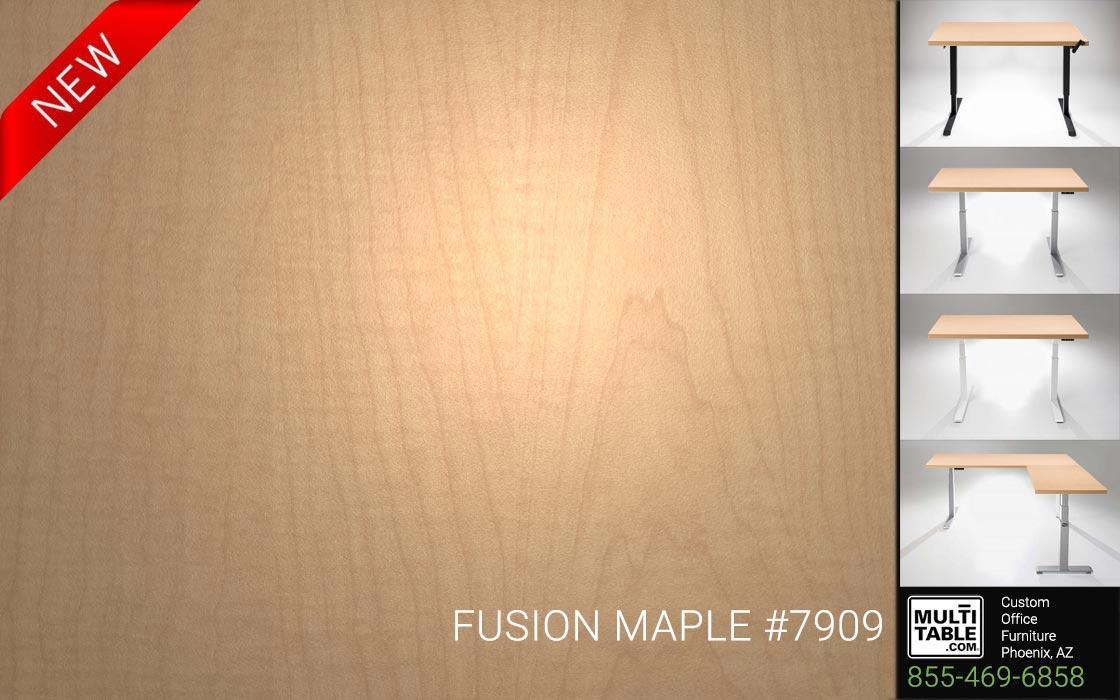 Custom Standing Desk Table Top Options MultiTable Office Furniture Manufacturer Supplier Phoenix Arizona Wilsonart Fusion Maple 7909 1