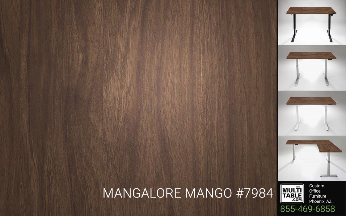 Custom Standing Desk Table Top Options MultiTable Office Furniture Manufacturer Supplier Phoenix Arizona Wilsonart Mangalore Mango 7984
