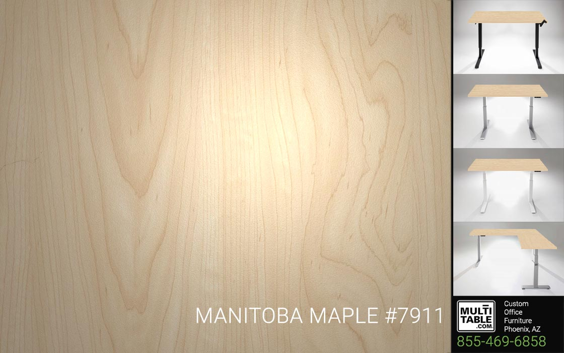 Custom Standing Desk Table Top Options MultiTable Office Furniture Manufacturer Supplier Phoenix Arizona Wilsonart Manitoba Maple 7911