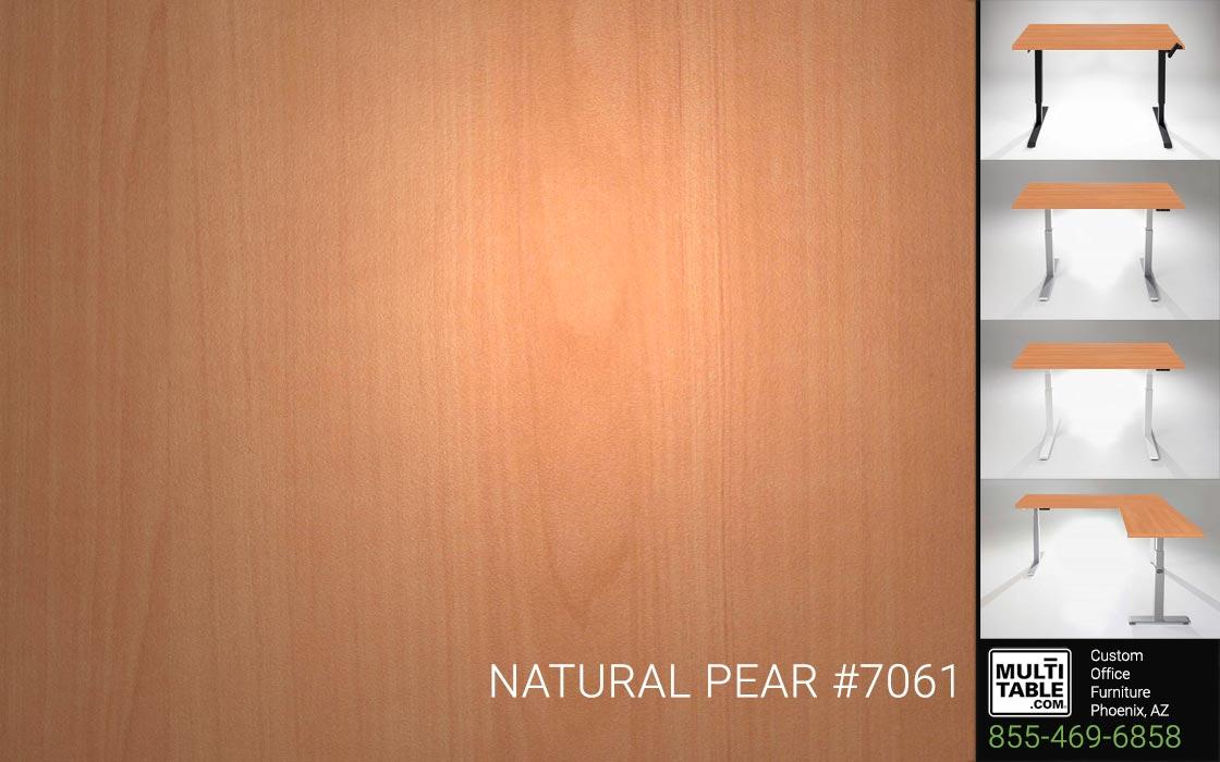 Custom Standing Desk Table Top Options MultiTable Office Furniture Manufacturer Supplier Phoenix Arizona Wilsonart Natural Pear 7061