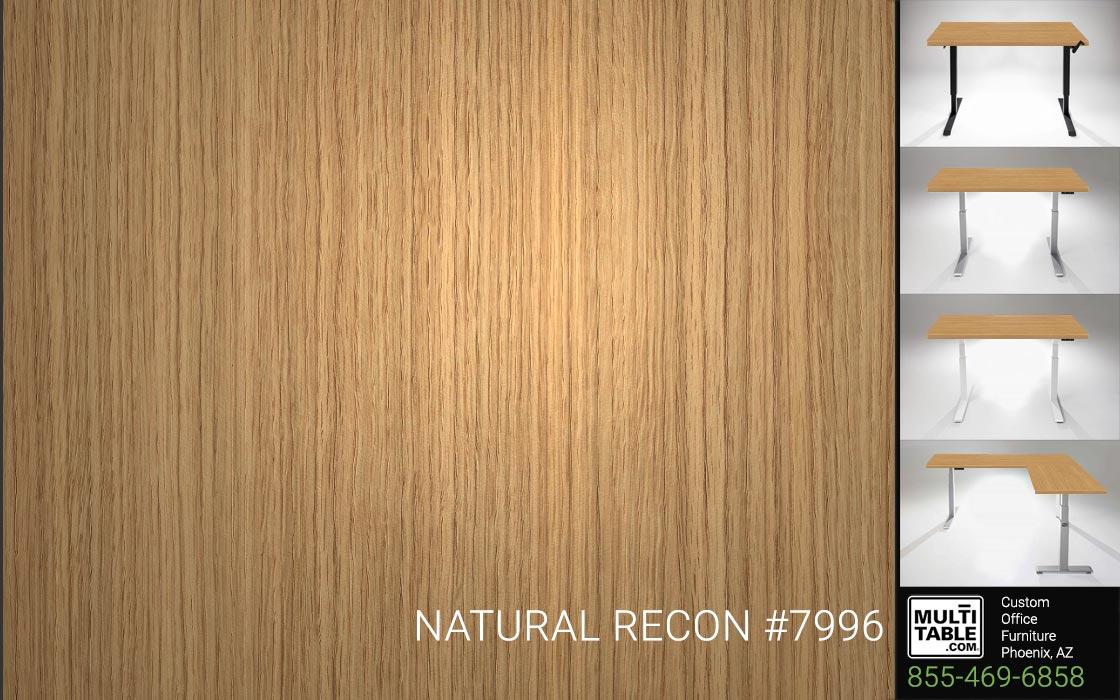 Custom Standing Desk Table Top Options MultiTable Office Furniture Manufacturer Supplier Phoenix Arizona Wilsonart Natural Recon 7996