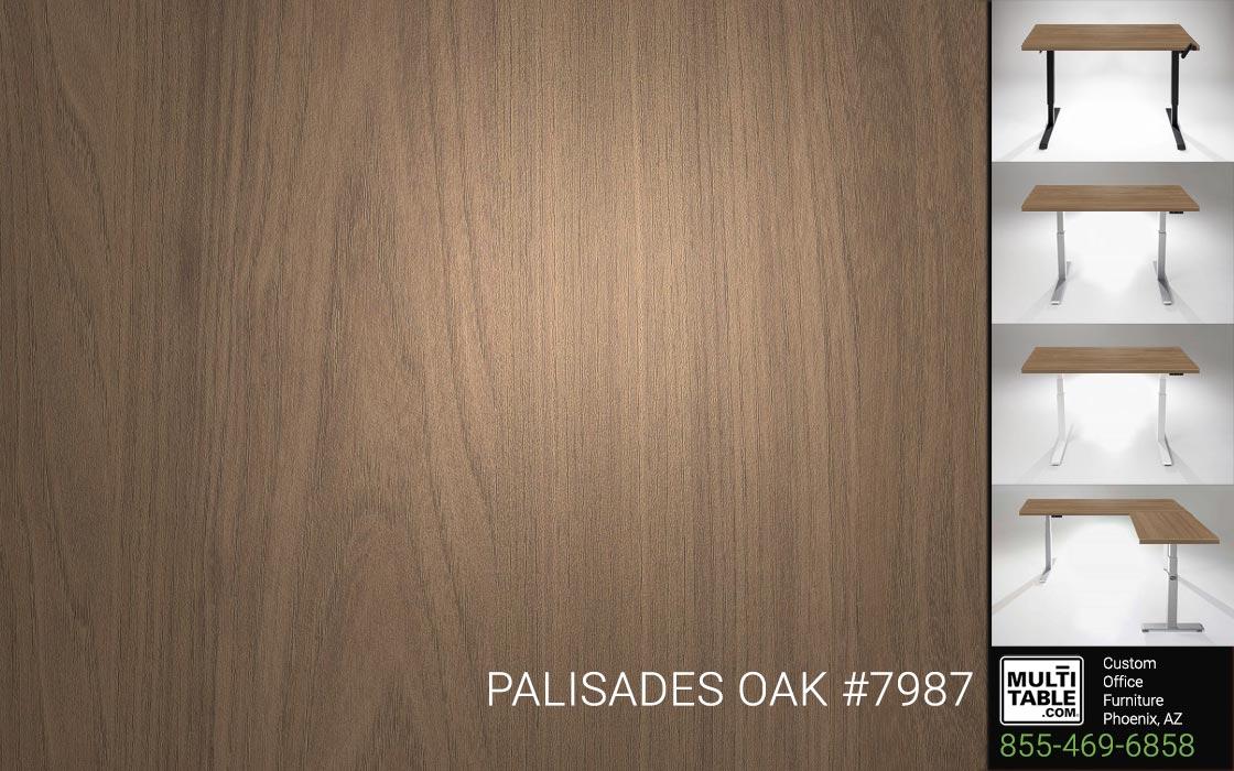 Custom Standing Desk Table Top Options MultiTable Office Furniture Manufacturer Supplier Phoenix Arizona Wilsonart Palisades Oak 7987