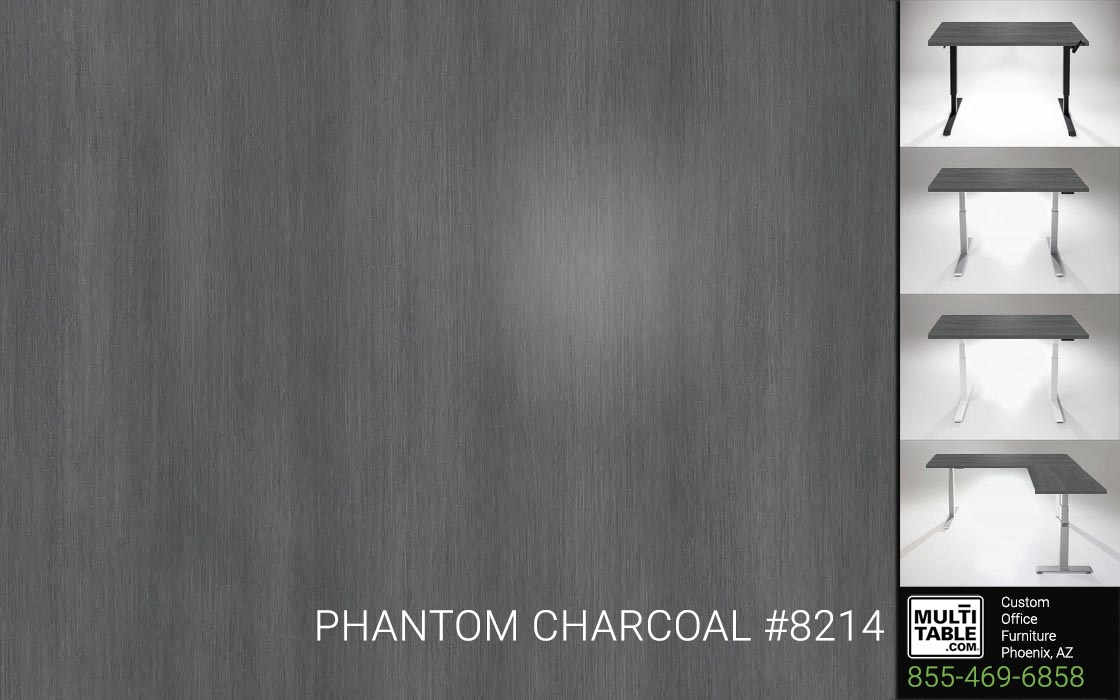Custom Standing Desk Table Top Options MultiTable Office Furniture Manufacturer Supplier Phoenix Arizona Wilsonart Phantom Charcoal 8214