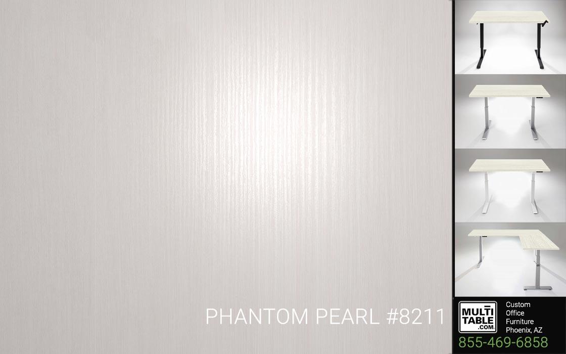 Custom Standing Desk Table Top Options MultiTable Office Furniture Manufacturer Supplier Phoenix Arizona Wilsonart Phantom Pearl 8211