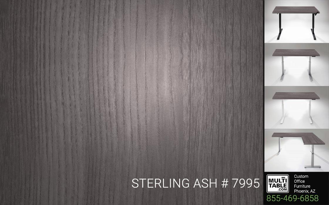 Custom Standing Desk Table Top Options MultiTable Office Furniture Manufacturer Supplier Phoenix Arizona Wilsonart Sterling Ash 7995