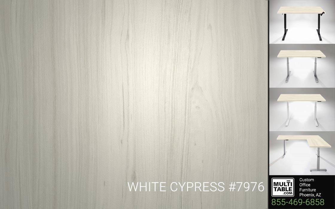 Custom Standing Desk Table Top Options MultiTable Office Furniture Manufacturer Supplier Phoenix Arizona Wilsonart White Cypress 7976