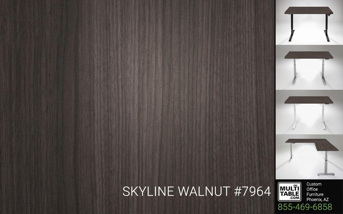 Custom Standing Desk Table Top Options MultiTable Office Furniture Supplier Phoenix Arizona Skyline Walnut 7964