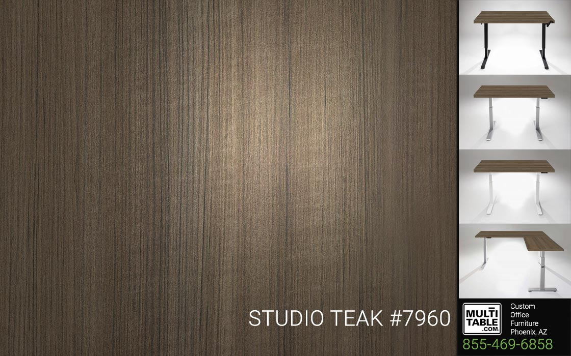 Custom Standing Desk Table Top Options MultiTable Office Furniture Supplier Phoenix Arizona Studio Teak 7960