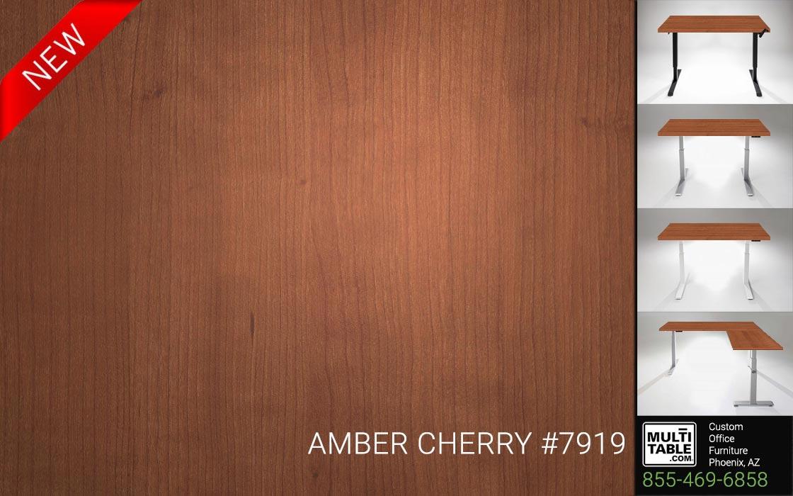 Custom Standing Desk Table Top Options MultiTable Office Furniture Supplier Phoenix Arizona Wilsonart Amber Cherry 7919 Call 855 469 6858 To Order Now 1