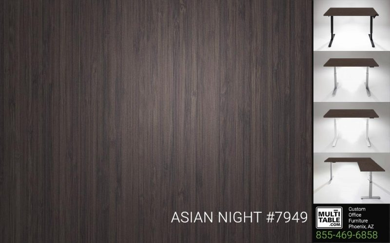Custom Standing Desk Table Top Options MultiTable Office Furniture Supplier Phoenix Arizona Wilsonart Asian Night 7949 Call 855 469 6858 To Order Now