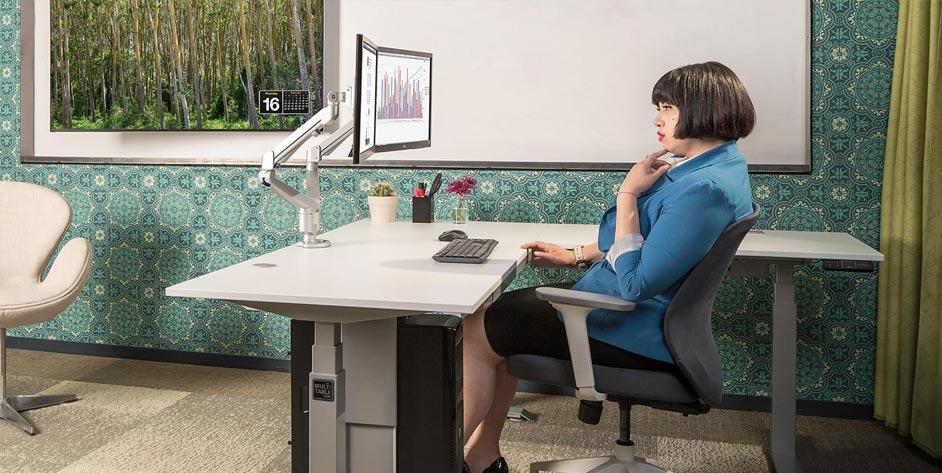 Mod E Pro L Shaped 3 Leg Corner L Shaped Standing Desk