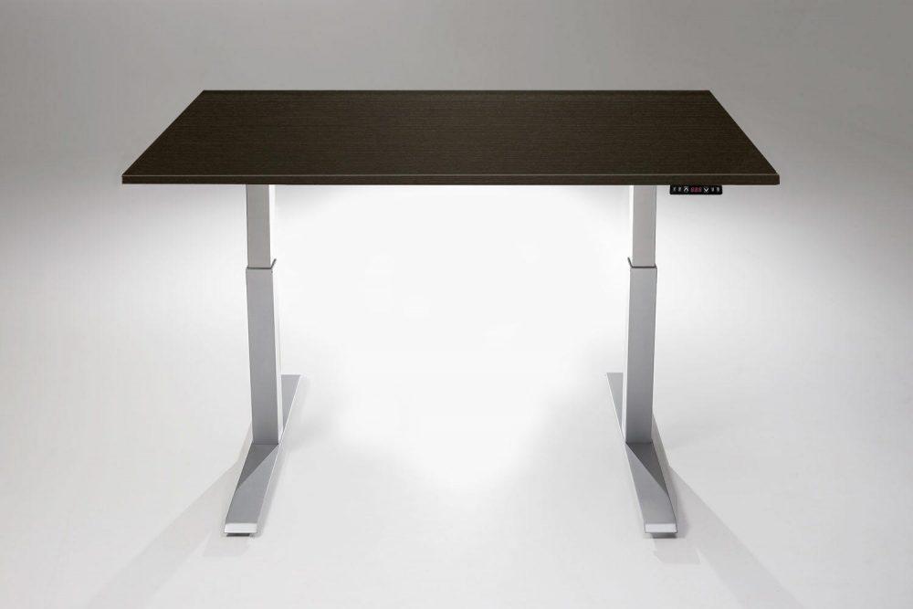Mod E2 Height Adjustable Standing Desk Silver Base Libretti Table Top MultiTable