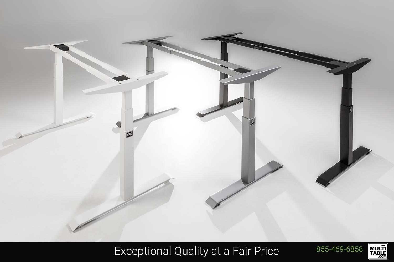 Custom Height Adjustable Standing Desks Frame Design Options MultiTable Office Furniture Manufacturing Phoenix Arizona Since 2010
