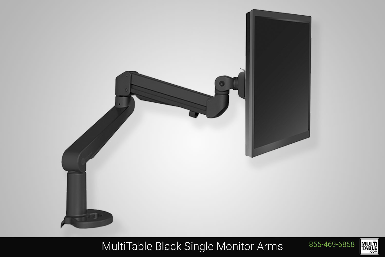 Custom Standing Desk Black Single Monitor Arm Ergonomic Accessories MultiTable Office Furniture Manufacturing Phoenix Arizona Since 2010