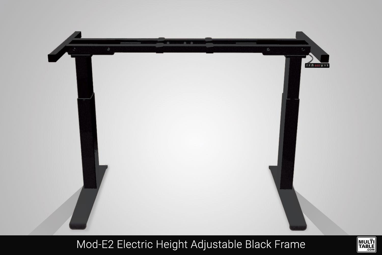 Mod E2 Electric Height Adjustable Black Frame Custom Design Options MultiTable Office Furniture Manufacturing Phoenix Arizona Since 2010
