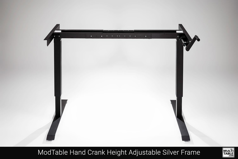 ModTable Hand Crank Height Adjustable Black Frame Custom Design Options MultiTable Office Furniture Manufacturing Phoenix Arizona Since 2010