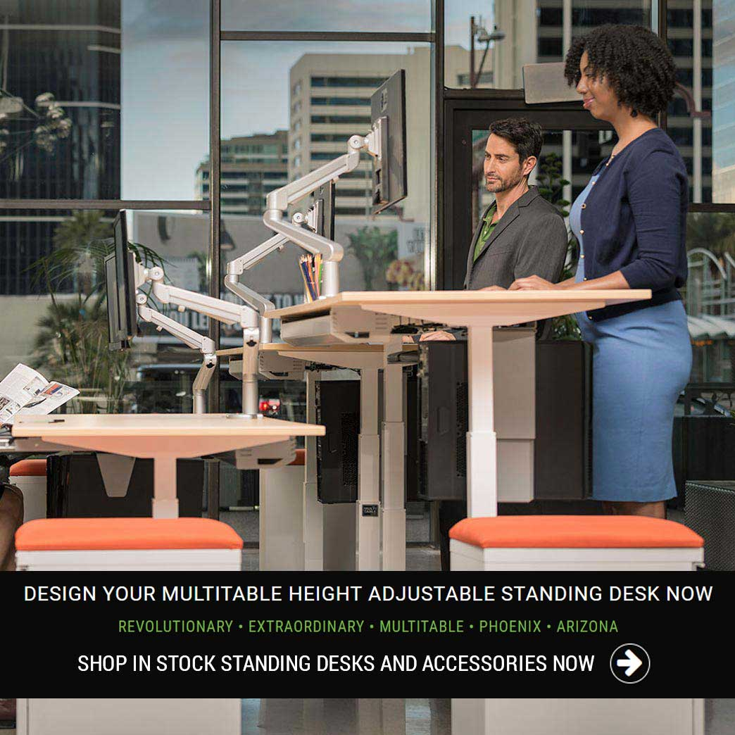 Standing Desk Supplier Manufacturer Height Adjustable Ergonomic Furniture Phoenix Arizona MultiTable Ergonomic Office Furniture Dealer Supplier Maker