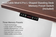 MultiTable Electric L Shaped Ergonomic Standing Desk Memory Preset Switch