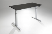 FlexTable Height Adjustable Standing Desk Silver Black A MultiTable