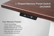 L Shaped Standing Desk Memory Preset Up Down Switch
