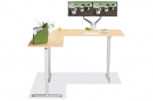 L Shaped Standing Desk Fusion Maple L 4 Multitable